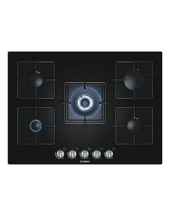 Serie | 6 PPQ716B1TI 70 cm, Black Hard Glass Gas hob with integrated controls