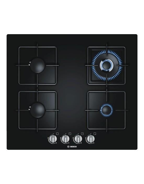 Serie | 6 PPH616B1TI 60 cm, Black Hard Glass Gas hob