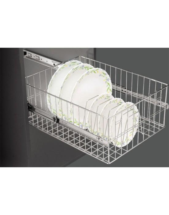 SS PVC thali & plate basket 17x20x8